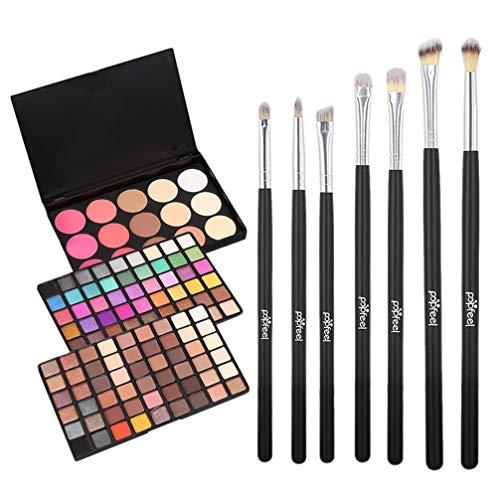 PIXNOR 1 Satz Lidschatten-Palette Bunte Make-Up-Pinsel-Tool-Set Make-Up-Palette Kosmetikpinsel für...