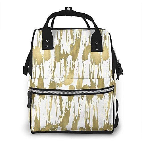 Travel Backpack,Chic Gold Glam Abstract Wickeltasche Modische Rucksäcke Für Das Reisen Im Fitnessstudio 40cm(H) x18(W) cm
