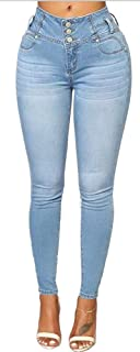 GALMINT Women's Juniors High Rise Irresistible Jegging Pull-On Stretch Skinny Jeans