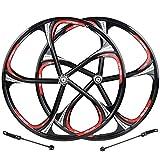 Ruota Anteriore della Bici Ruota Posteriore Ruote da 26 Pollici MTB Cerchio in Lega di Magnesio Mozzo Rotante Freno A Disco A Sgancio Rapido 8 9 Ruote per Bici da Strada A 10 velocità