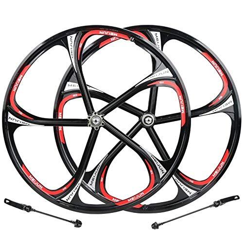 LIMQ Fahrrad Vorderrad Hinterrad 26 Zoll MTB Laufradsatz Magnesiumlegierung Felge Radnabe Schnellspanner Scheibenbremse 8 9 10-Fach Rennradräder