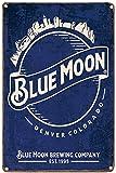 LIPTOR Blue Moon Denver Colorado Vintage Tin Sign Coffee Bar Wall Decor Art...