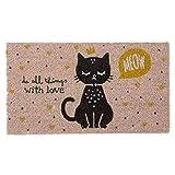 DCASA DCASA Antideslizante Cat Lover Referencia DC Felpudos Textiles del hogar Unisex Adulto, Color, 40x70x1,5