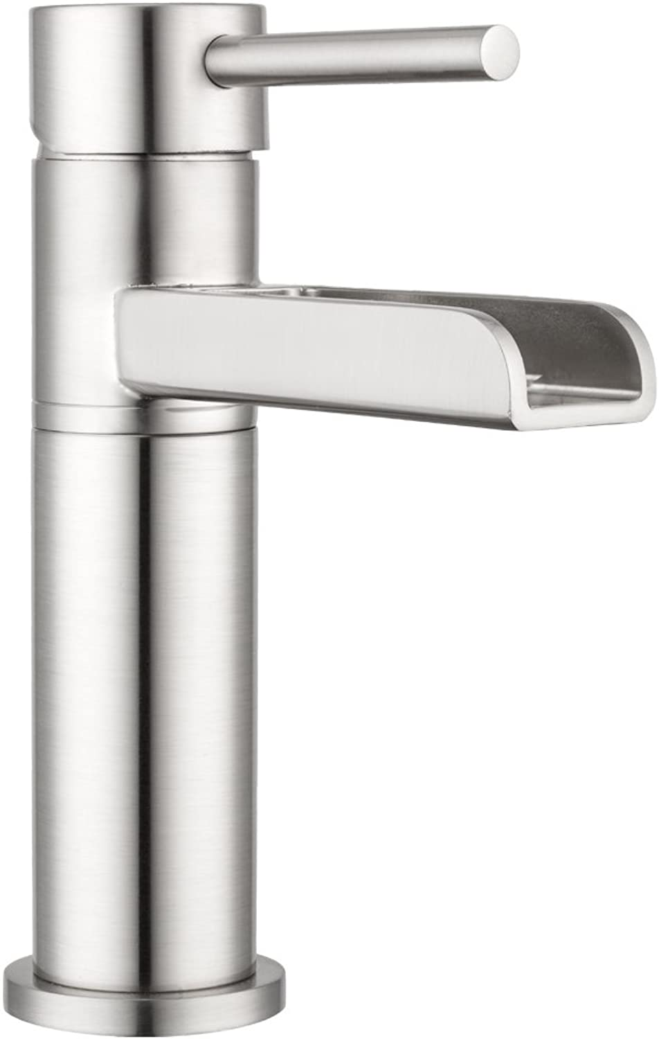 Lakewood Waterfall Single-Lever Bathroom Faucet by Pacific Bay (Brushed Satin Nickel) - Features a Multi-Tiered Cascading Waterfall - New 2019 Model