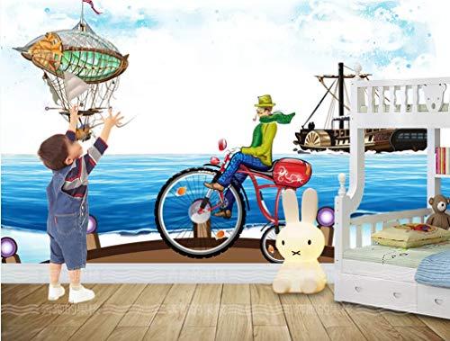 Cartoon Kai Landschaft Tapeten Kinderzimmer 3D Wandbild Diy Wanddekoration Moderne Wohnzimmer Schlafzimmer Wandkunst Aufkleber Seide Wandtapete 150(B) X105(H) Cm Brauch Größe Fototapete