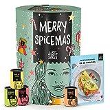 Calendario de Adviento Just Spices 2021 I Calendario de Navidad con 24 mezclas de especias I Especias deliciosas para regalar a hombres y mujeres I Total 4,5 kg