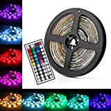 UBEGOOD LED Streifen, RGB 5M LED Licht Streifen SMD 5050 Dimmbare LEDs Strip mit Netzteil 44-Tasten...