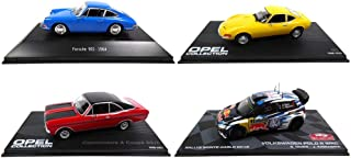 Eaglemoss / Norev Set of 4 1/43 Sports Cars: Porsche 901 + Polo R WRC + Opel Commodore + Opel GT (901 + BR1 + Opel1 & 2)
