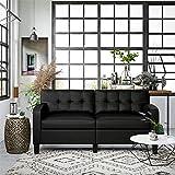 Dorel Living Zakari Couch, Modern Living Room, Black...