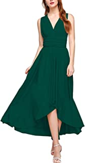PERSUN Women's Convertible Hi-Low Dresses Multi-Way Transformer Wrap Evening Bridesmaid Dress
