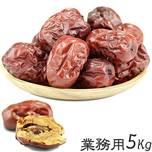 なつめ ドライフルーツ 赤棗 たいそう 大紅ナツメ 乾燥なつめ茶 薬膳料理 中華食材 乾燥果実 種あり赤なつめ乾燥 無添加 砂糖無し 大泡棗 (業務用5Kg)
