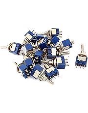 DealMux A15090100ux0328 Toggle Switch, AC125V 6 A, SPDT ON-OFF-ON 3 miniatuur vergrendeling, 16 stuks
