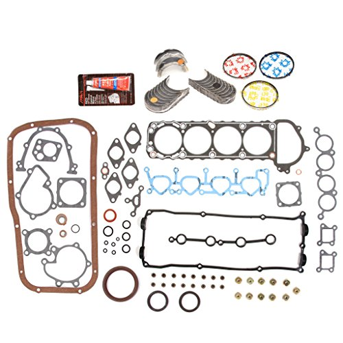 Evergreen Engine Rering Kit FSBRR3027EVE Compatible With 95-99 Nissan 240SX KA24DE Full Gasket Set, Standard Size Main Rod Bearings, Standard Size Piston Rings