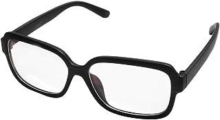 iCaptainAB Opra إطار نظارة مربع سميك عدسات شفافة غير وصفة طبية نظارات أنيقة ريترو