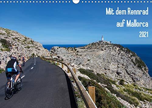 Mit dem Rennrad auf MallorcaAT-Version (Wandkalender 2021 DIN A3 quer)