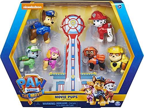 PAW Patrol Paw Patrol Geschenkset mit 6 Hero Pups Spielfiguren aus dem Kinofilm, ab 3 Jahren