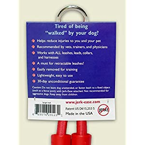 JERK-EASE Bungee Dog Leash Extension - Large Red