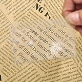 QINGJIA 10pcs / Set Tamaño Magnifying Lente de Fresnel 8x5.5x0.04cm la Tarjeta de crédito del Bolsillo Transparente Lupa Lectura/Obeservación/Reparación