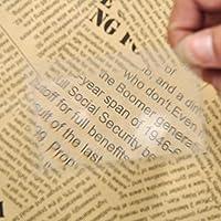 MYERZI 10個入り/セット拡大鏡倍率拡大鏡フレネルレンズ8x5.5x0.04cmポケットクレジットカードサイズの透明な拡大鏡 新聞/雑誌/地図