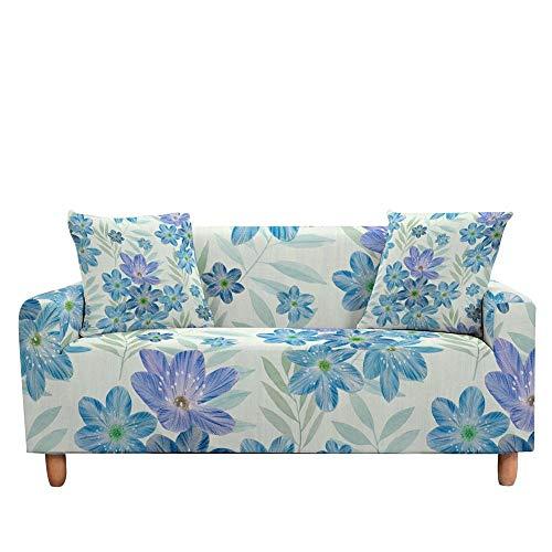 Vlejoy Cubierta Sofa con Cuerda De Fijación Fundas De Flores Funda De Sofá Bohemia Étnica Flor Seccional En Forma De L Funda De Sofá para Sofá-Color-W_4 Plazas (235-300cm)