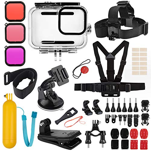 Deyard Kit Accessori per GoPro Hero 9 Black, Set di Accessori per Hero 9 Black, Custodia Impermeabile + 3 Filtri Adatti per GoPro Hero 9