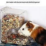 Rikey Hamster Distributeur Automatique de Nourriture de Voyage avec ardille en hêtre et Lapin d'Inde 1