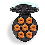 eewopjkj Mini máquina para Hacer donas Superficie Antiadherente Hace 7 donas para desayunos refrigerios postres y más para los niños con Superficie Antiadherente