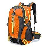 RatenKont Mochila Viaje Resistente al Agua 40L Mochila Escolar para College Camp Hike Laptop Trekking Climb Bags Orange 30-40L