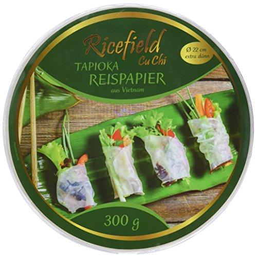 Ricefield Tapioka-Reispapier, rund 22 cm, Premiumqualität, 300 g