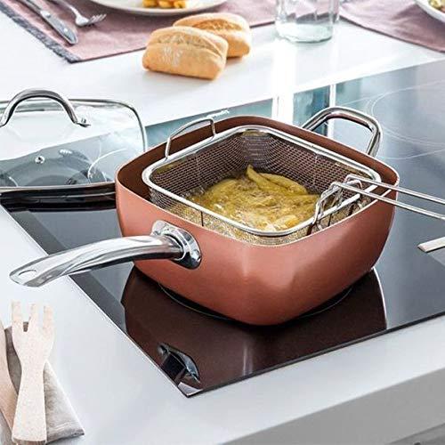InnovaGoods Set di padelle multifunzione 5 in 1 Copper, alluminio, argento, 24 cm, 4 pezzi