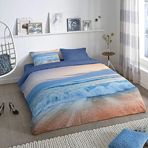 Traumschlaf Bettwäsche Meer und Strand 1 Bettbezug 135x200 cm + 1 Kissenbezug 80x80 cm