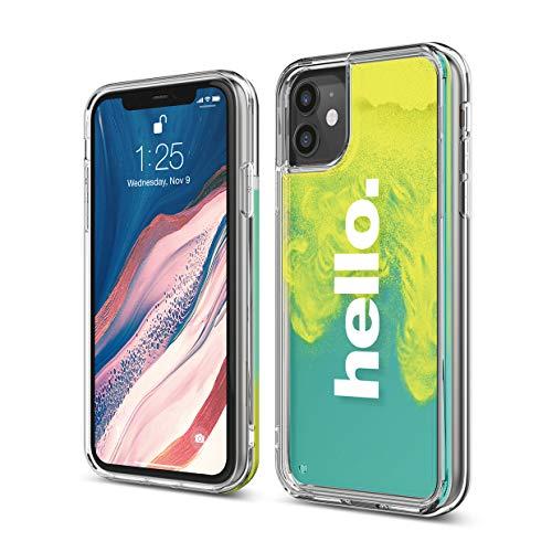 """elago Sand Case Handyhülle Kompatibel mit Apple iPhone 11 (6.1\"""") - Atemberaubende Wasserfall-Effekte, Dual-Farben, Handschlaufe, Erhöhte Kante, Minimaler Abfallschutz (Hello)"""