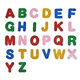 Pegatinas de espuma con purpurina para letras, pegatinas de espuma con purpurina de colores, letras del alfabeto, pegatinas autoadhesivas, divertidas pegatinas hinchadas álbumes de recortes para niños