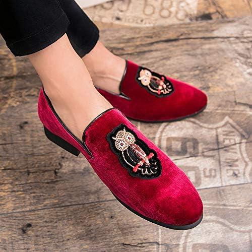 LOVDRAM Chaussures Hommes 38-45 Grandes Tailles Affaires Décontractées Chaussures Pointues Hommes Coiffeur Styliste Tassel Petites Chaussures