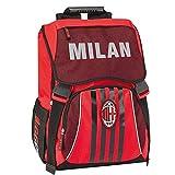 AC Milan Zaino Estensibile Standard, Rosso/Nero