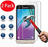 FoneExpert 2 Pack - Samsung Galaxy J3 2016 Verre Trempé, Vitre Protection Film de Protecteur d'écran Glass Film Tempered Glass Screen Protector pour Samsung Galaxy J3 2016