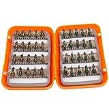 Caja de anzuelos de señuelos de Pesca con Mosca Caja de Accesorios de Aparejos de Pesca Caja competición de Pesca(Golden Green Mixed)