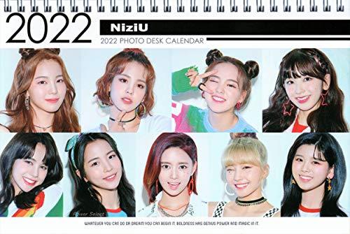 NiziU ニジュー グッズ 卓上 カレンダー (写真集 カレンダー) 2020~2021年(2年分) + ステッカーシール [12...