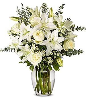 From You Flowers - With All Our Sympathy Lily Arrangement  Free Vase Included