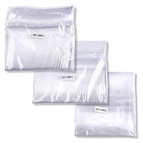 Schramm® 150 stuks wegwerpbestek van plastic met 50 vorken, 50 messen en 50 lepel, 150 TLG. Vork, mes, lepel plastic bestek 150 delen