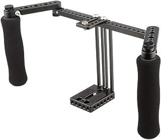 CAMVATE Monitor Cage mit verstellbaren Griffen für 5 Zoll und 7 Zoll LCD Monitore