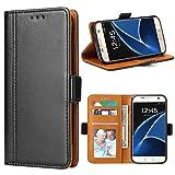 Bozon Galaxy S7 Hülle, Leder Tasche Handyhülle für