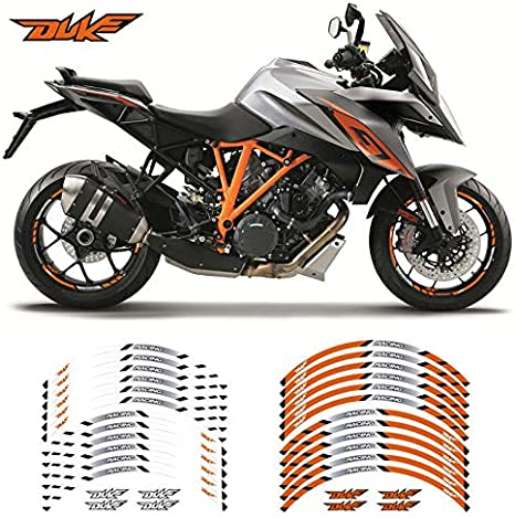 Color : 1 Motocicleta Etiqueta Rueda Raya del Borde Reflectante for KTM Duke 125 250 390 790 1290 TDZ