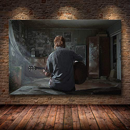 PCCASEWIND Quadro su Tela The Last of Us Gioco Stampa Poster Zombie Survival Horror Azione HD Poster Tela Pittura Modern Home Decor per Wall Art (40X50Cm),Wkh-514