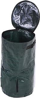コンポスト 肥料袋 堆肥コンポスター 家庭菜園 有機肥料 落ち葉処理 通気口 発酵 生ごみ (35 x 60cm)