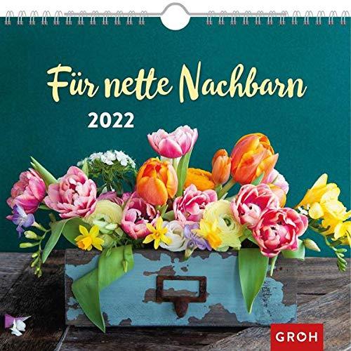 Für nette Nachbarn 2022: Wandkalender mit Monatskalendarium