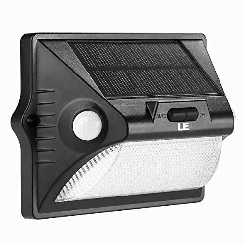 LE Solarleuchte 400lm rgb led Solarlampe Sicherheits mit bewegungsmelder 12 LEDs Außenwandleuchten Mehrfarbig solarlicht für Garten