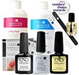 Official CND Shellac Starter Kit - Negligee Farbe Starter-Set - Top & Base Coat + Essentials
