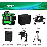 Green Laser Level self Leveling with Tripod, Rotary 3D Laser Level Auto-Leveling Switchable