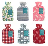 Hot Water Bottle with Soft Fleece Cover by Beamfeature
